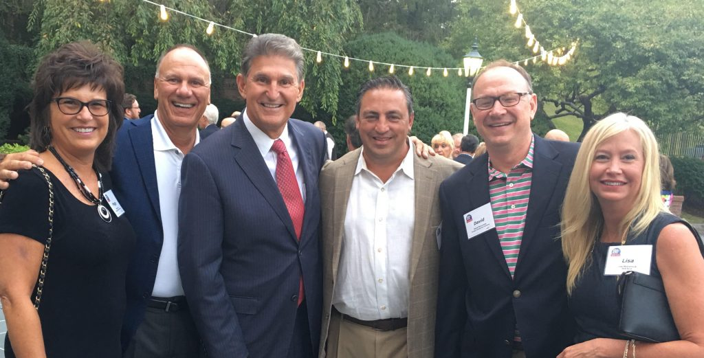 Peggy Lovio, Bob Lovio, Senator Joe Manchin, Mark Hainer, David McCormick and Lisa McCormick