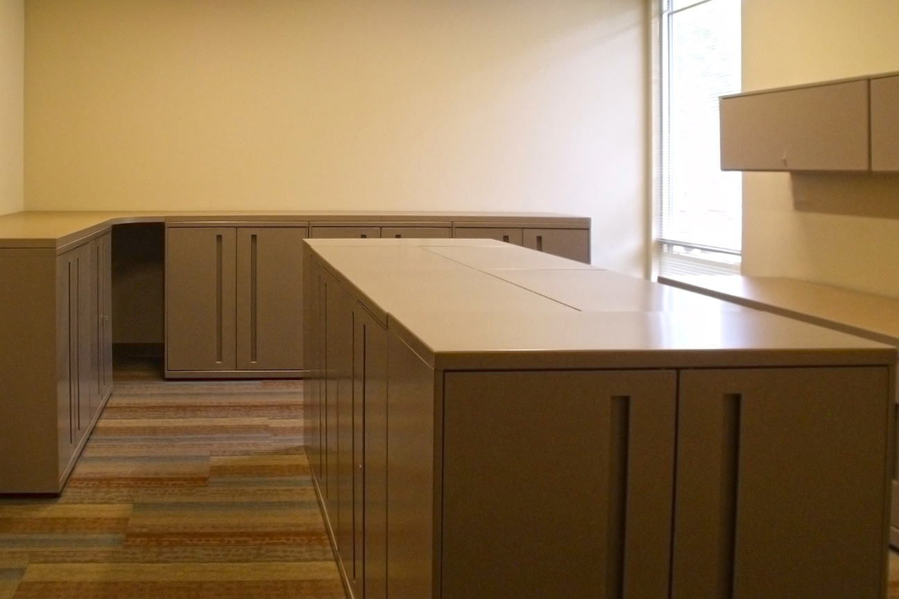 Lockers / Upper Storage / Work Surface designed by Omega