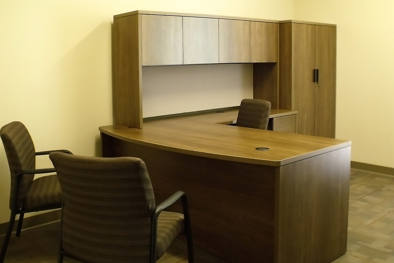 Office Desk / Side Table / Upper and Wardrobe Storage by Omega