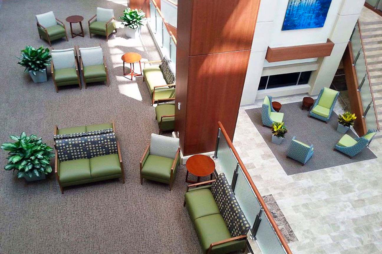 Hospital Main Lobby Commons Area