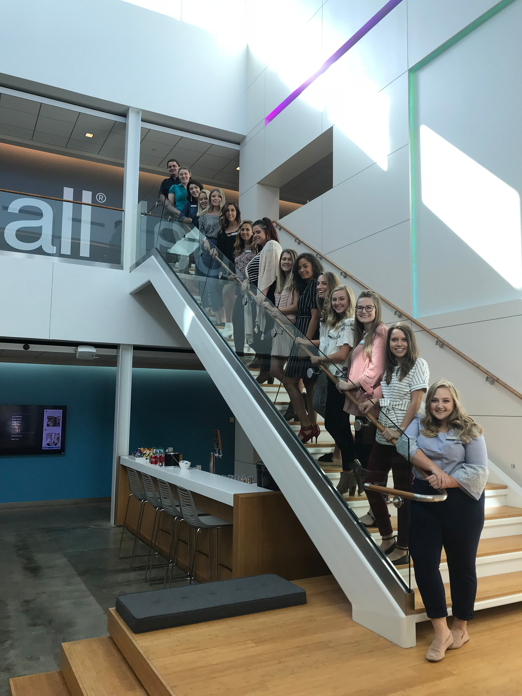 WVU School of Interior Design Students and Omega Commercial Interiors at Kimball Office in Jasper, Indiana