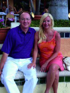 David and Lisa McCormick before Dinner