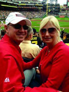 David and Lisa McCormick at a Pirates Game.