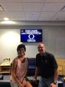 Peggy Lovio and David McCormick sponsor Black Bears fireworks