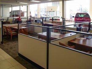 Workstations at Mountaineer Ford by Omega Commercial Interiors
