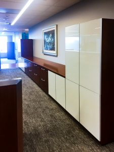 Workstation storage by Omega Commercial Interiors