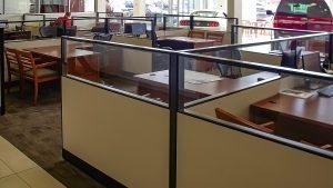 Framed Divider Glass Cubicle