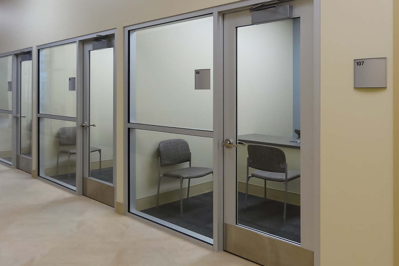 Semi-private offices at Boone Memorial Hospital