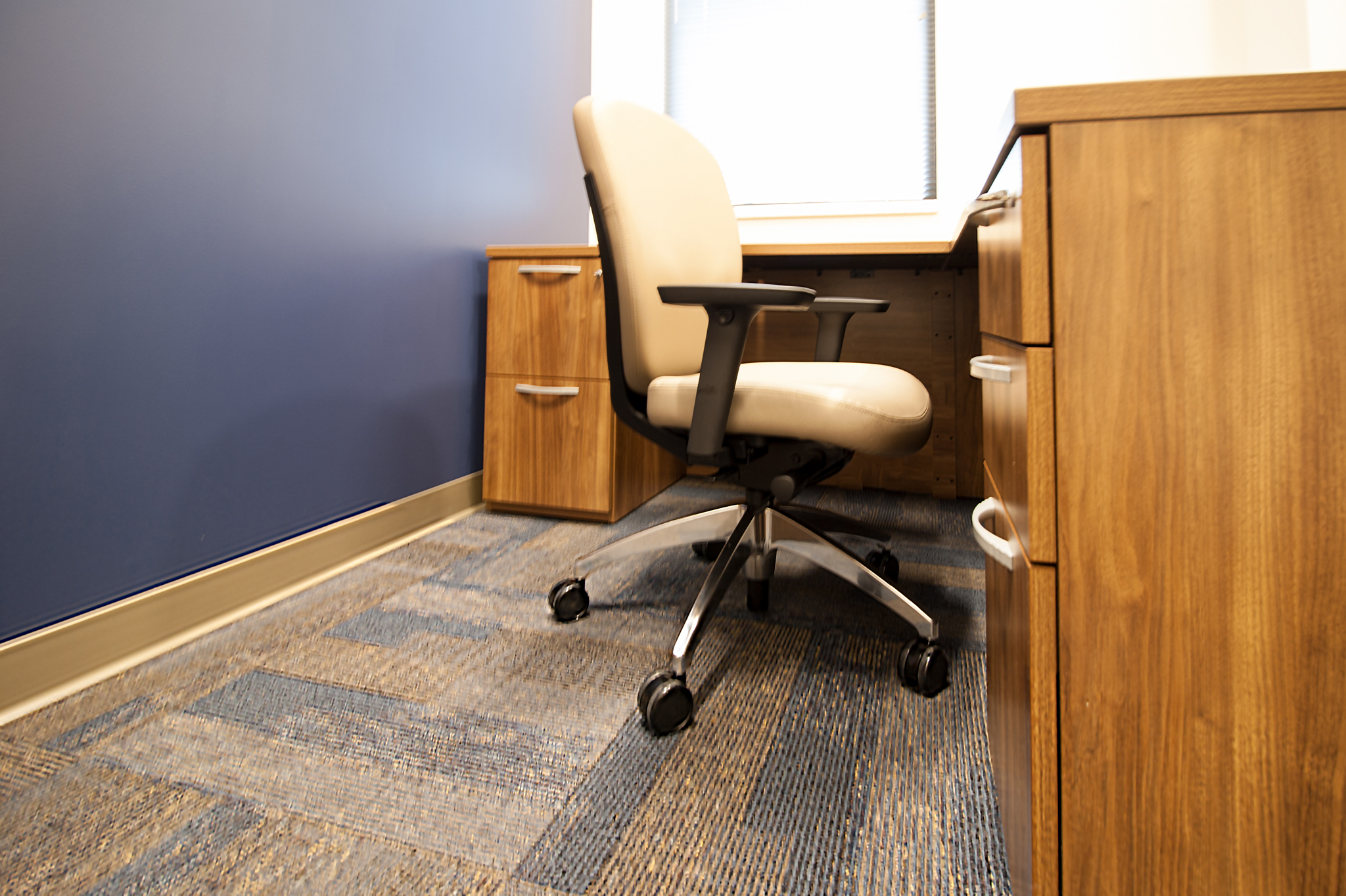 Midback Office Chair and Desk Office designed by Omega Commercial Interiors