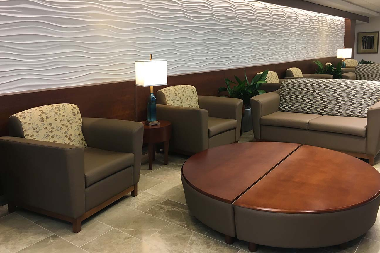 Hospital Lounge Area- Sectional Table