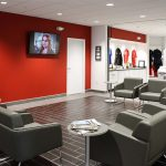Freedom KIA Dealership- Lounge, Seating designed by Omega Commercial Interiors