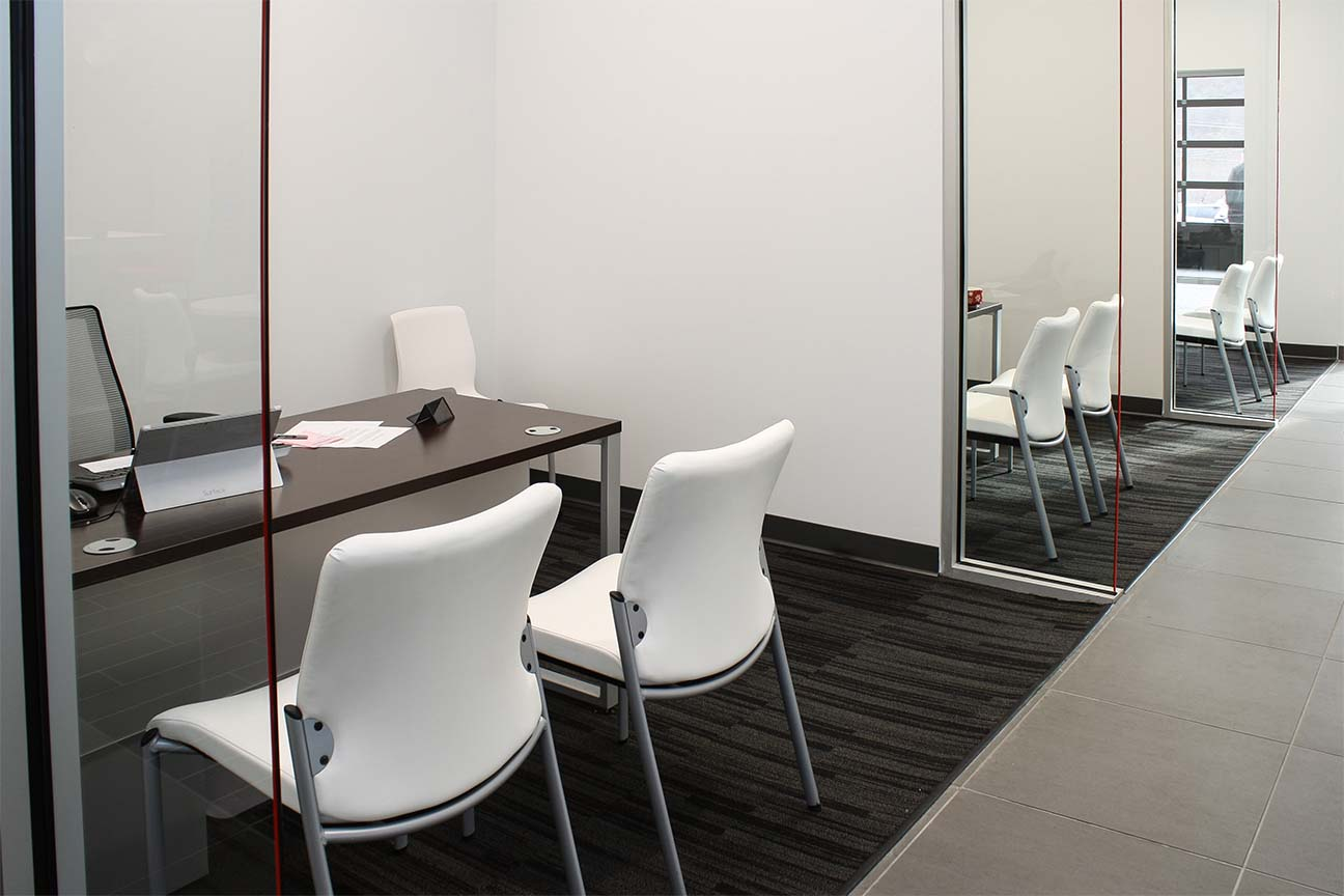 Freedom KIA Dealership- Office Furniture and side chairs- designed by Omega Commercial Interiors
