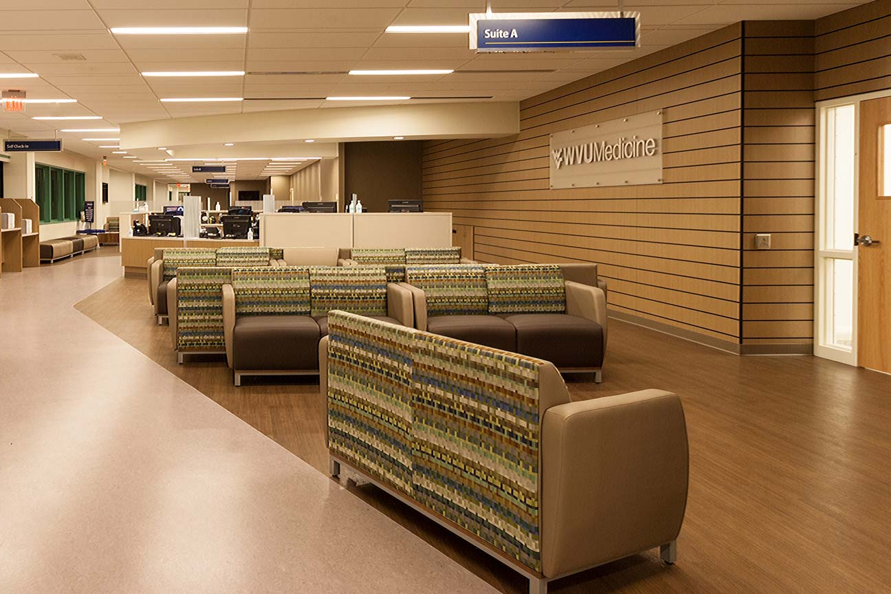 Physician Office Center-WVU Medicine-Morgantown,WV-Lounge and Bench Seating