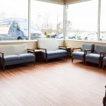 WVU Urgent Care- Primary Waiting Area- Designed by Omega Commercial Interiors