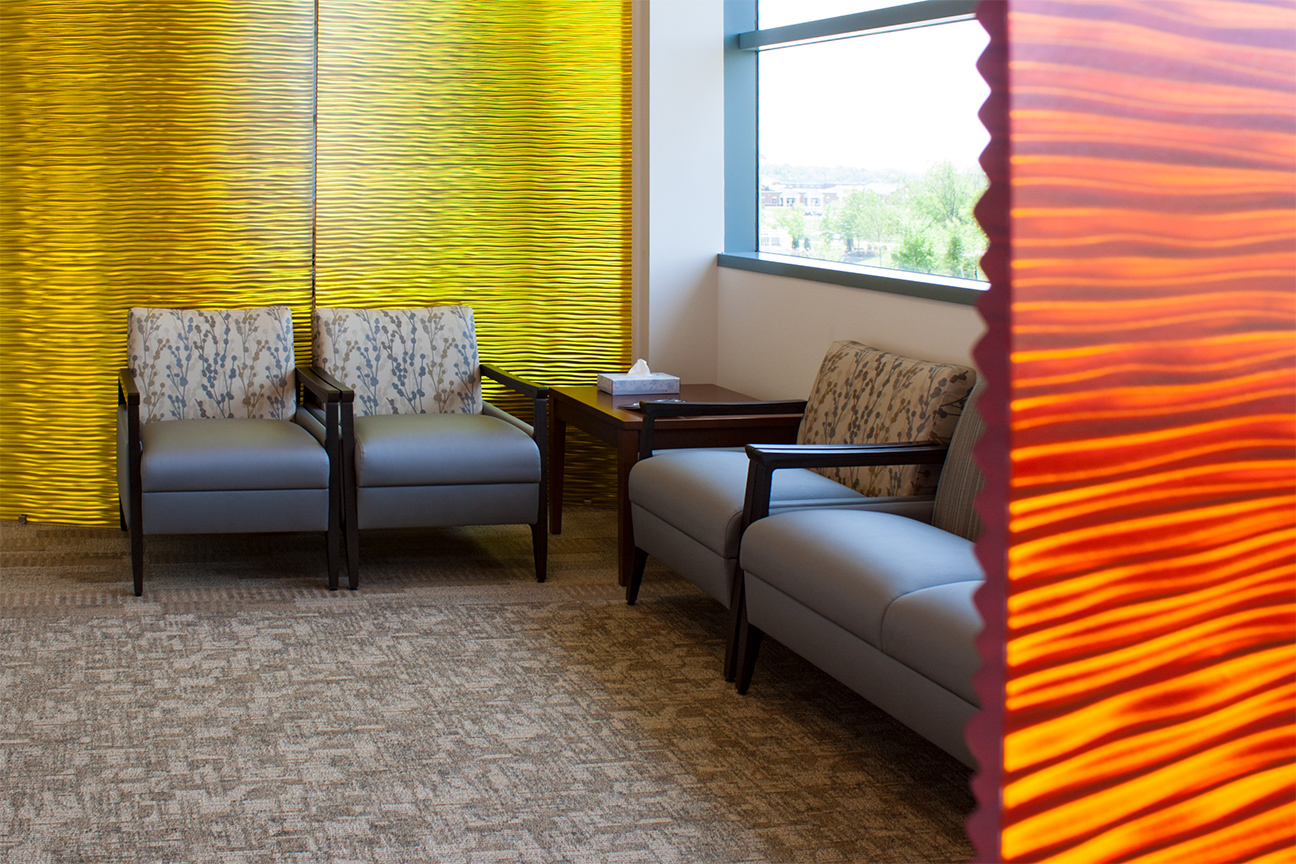 Architectural Panels / Waiting Room- Healthcare Interior Design for Waiting Area
