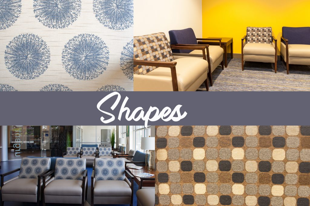 WVU Medical Facilities designed by Omega Commercial Interiors- Geometric Pattern Applications to Design