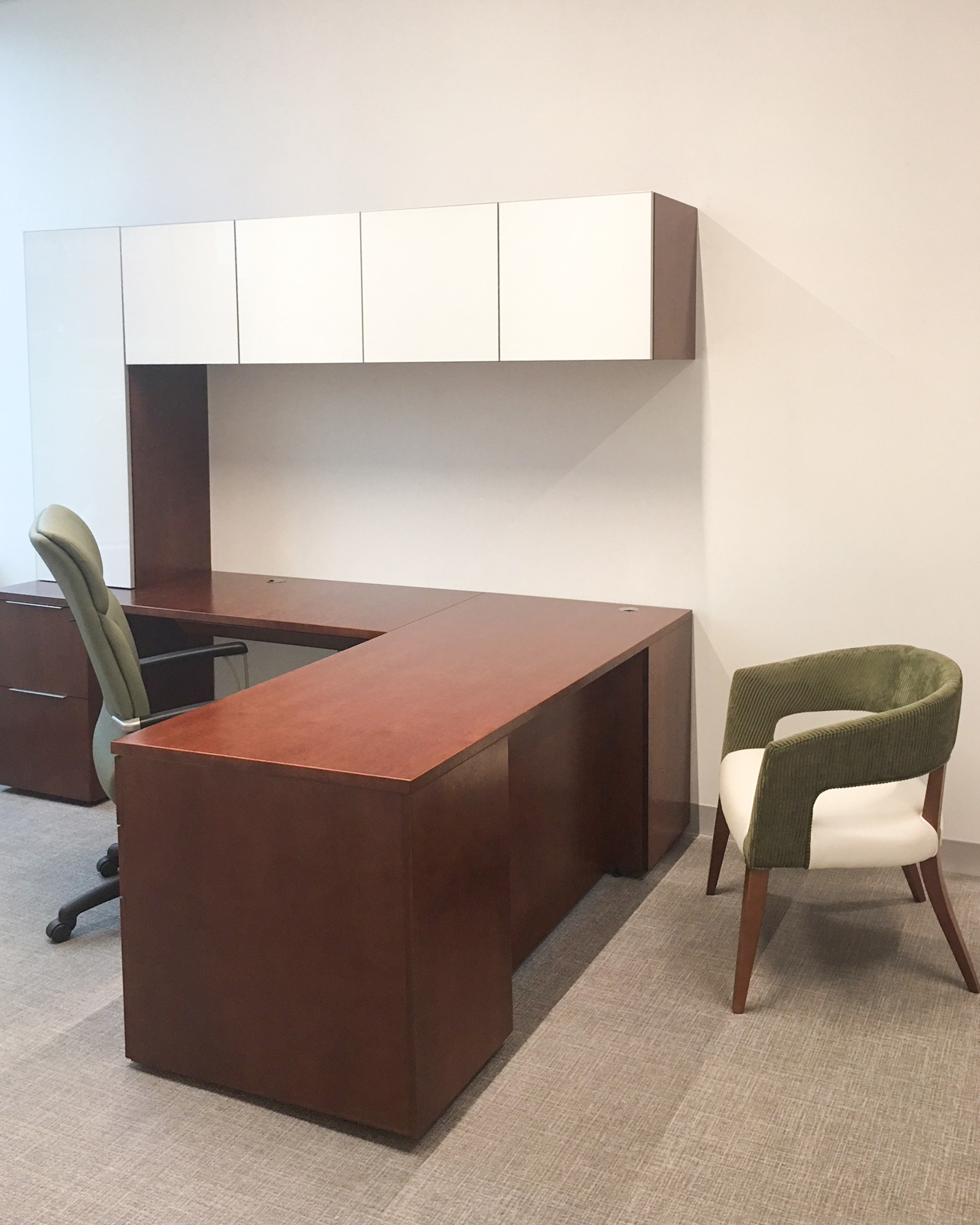 Mid Century Modern Look-desk and chairs- MVB Bank Reston, Va
