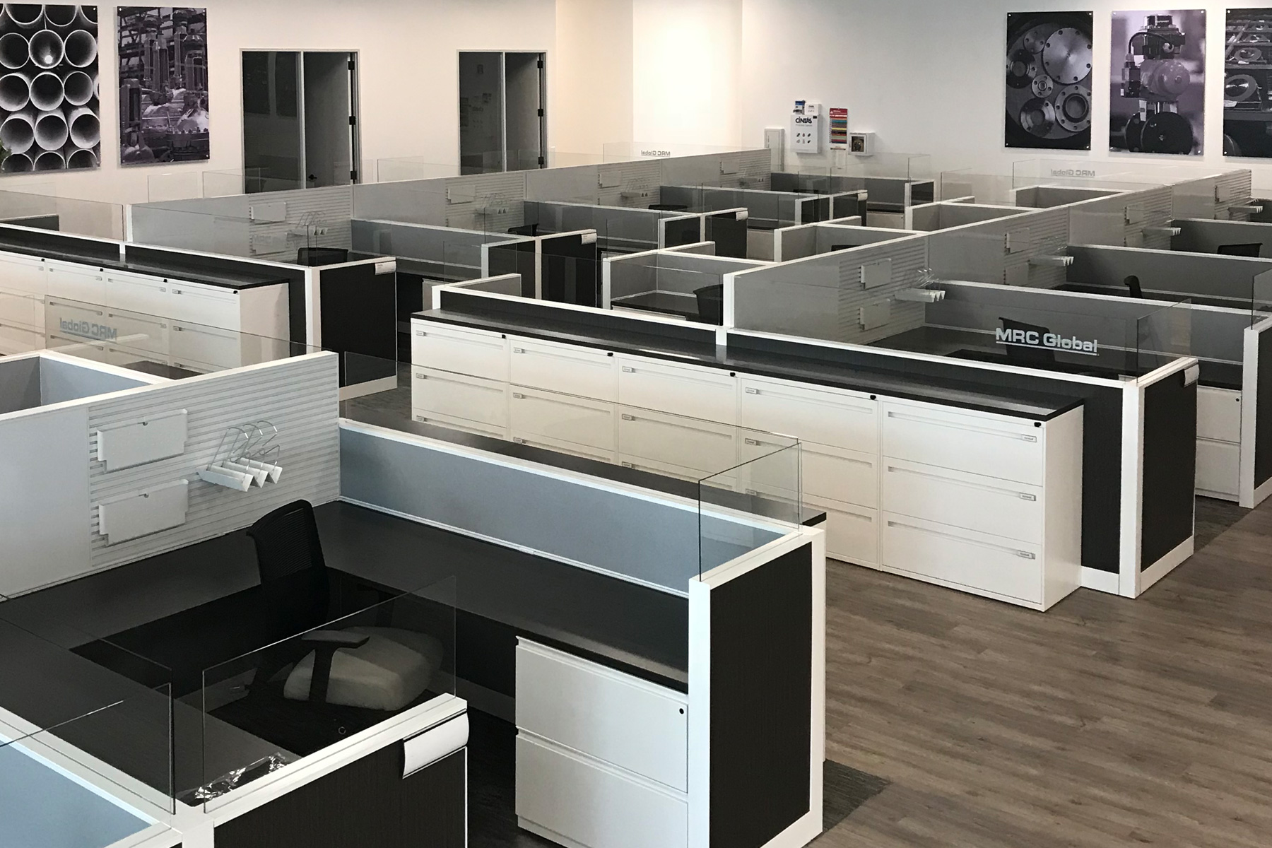 Kimball Narrate Systems w/ Joya Task Chair and Lateral Filing