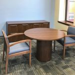 Kimball Credenza, Priority Meeting Table and National Eloquence Guest Chair
