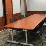 Kimball Joya Armless Mobile Chairs and Flip Nest Tables