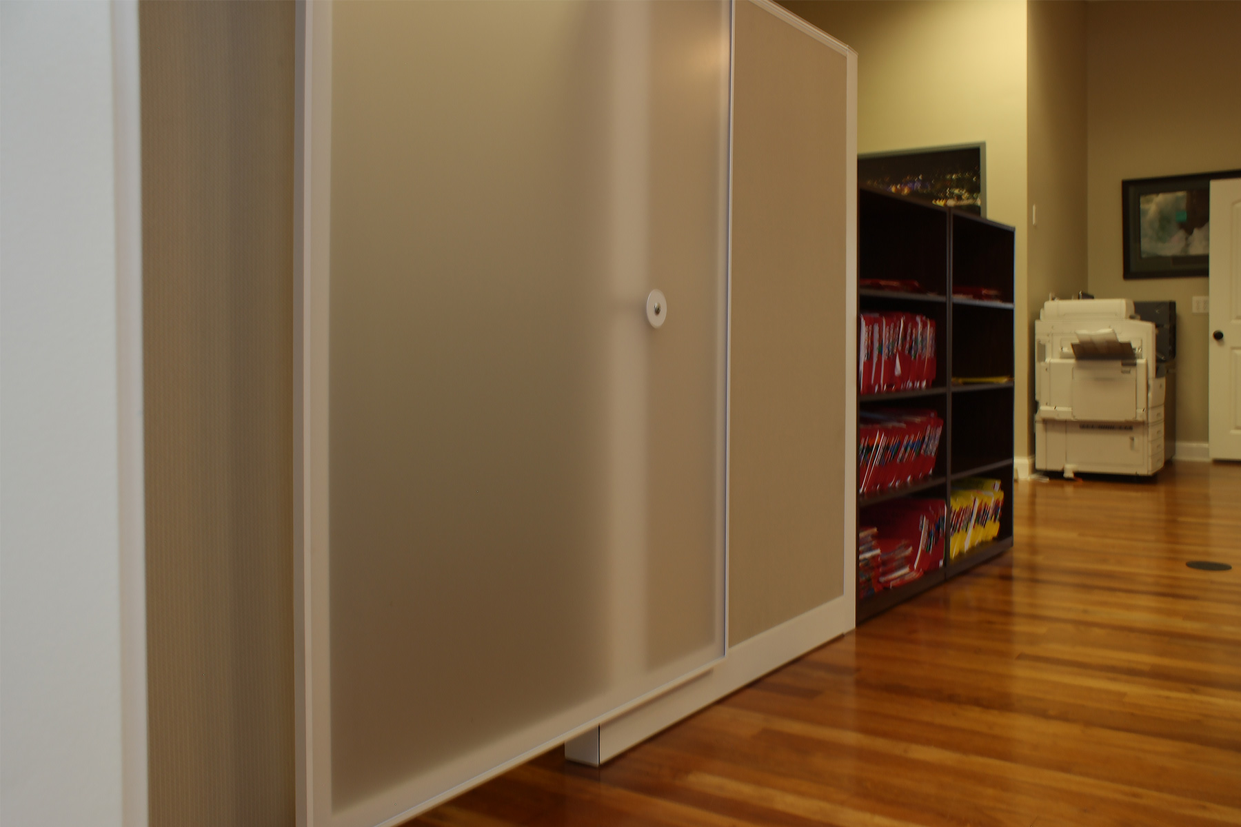 Kimball Narrate Panel System w/ Sliding Glass Door