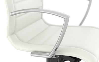 Chrome finish arms - Niles™ Conference Chair by Kimball®