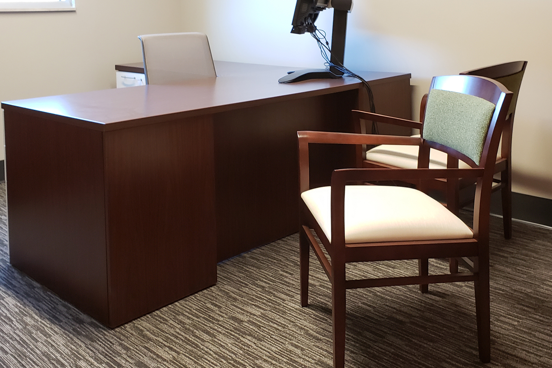 Desk and National® Eloquence™ Side Chair