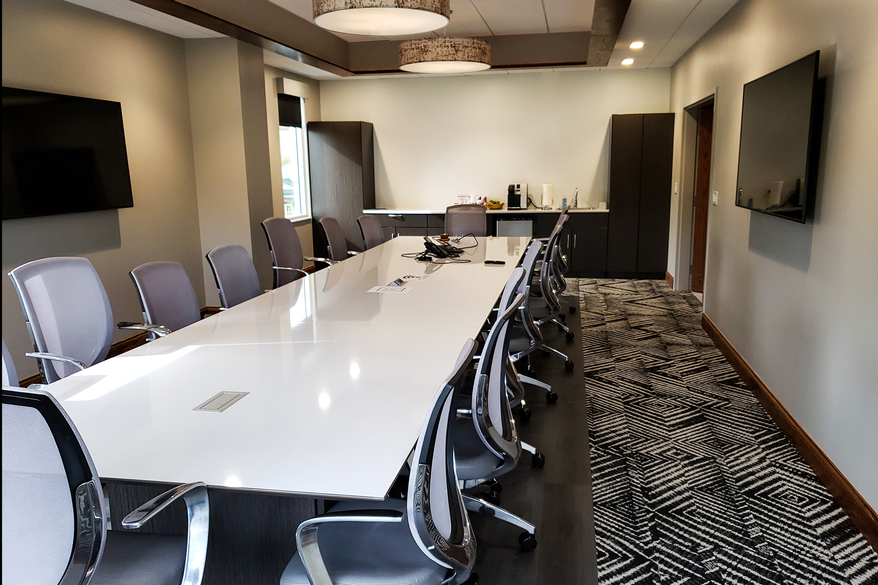 Kimball® Dock™ Conference Table and Kimball® Wish™ Conference Chair.