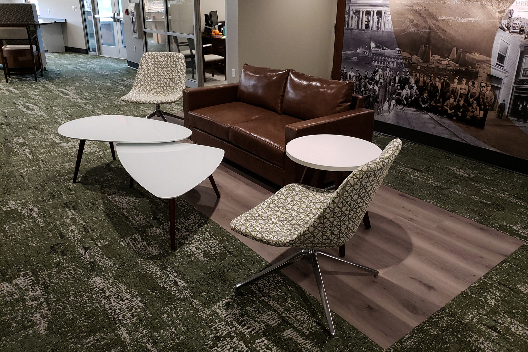 National® Collette™ Lounge, Delgado™ Side Chairs and Tessera™ Side Tables