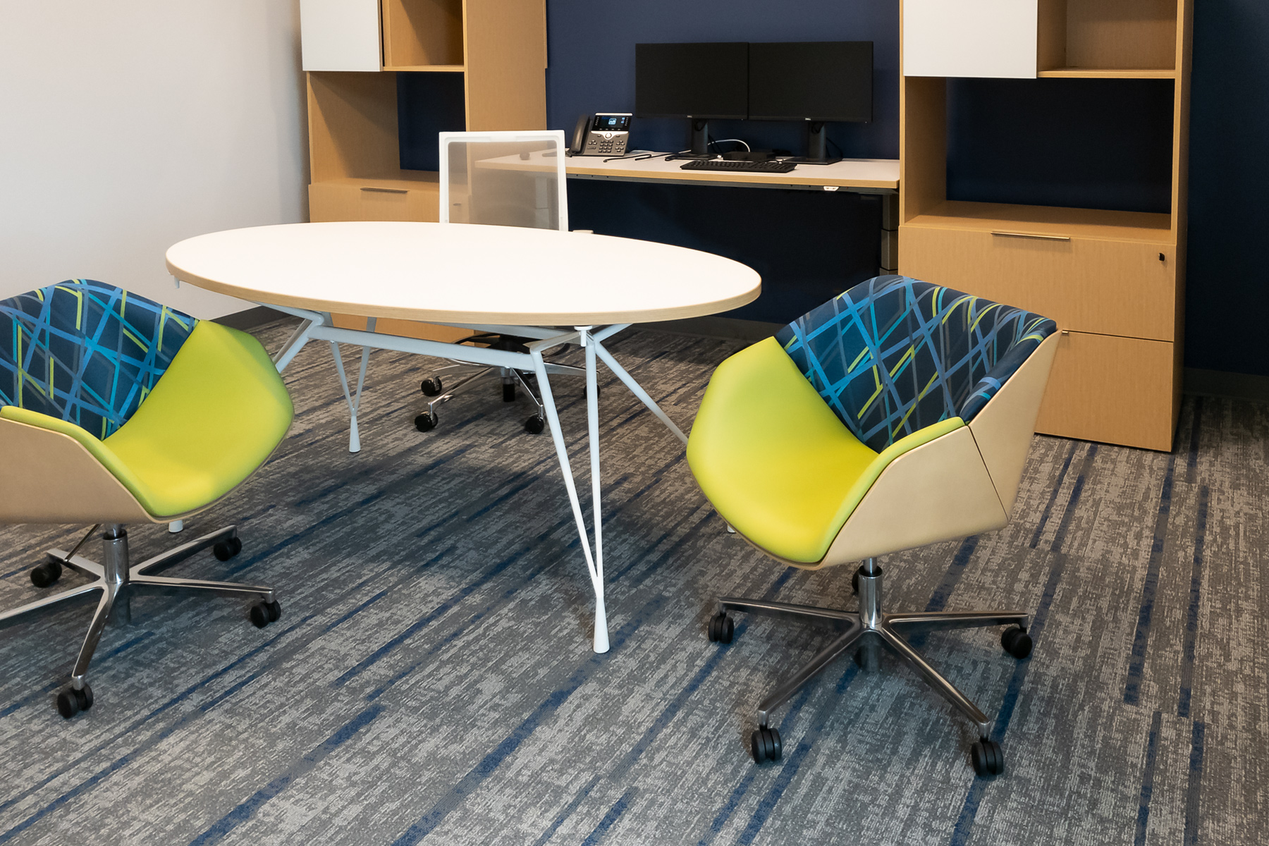 National® Delgado™ Side Chairs with Kimball® Office Furniture