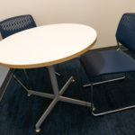Kimball Dock™ Breakroom Table and Kimball® Poly™ Breakroom Chairs