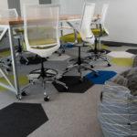 Kimball® Fixit™ Meeting Table, Kimball® Helio™ Task Stool and National® Toss™ Bean Bags