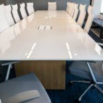 Nucraft® Myne™ Conference Table with Source International® Purl™ Chairs