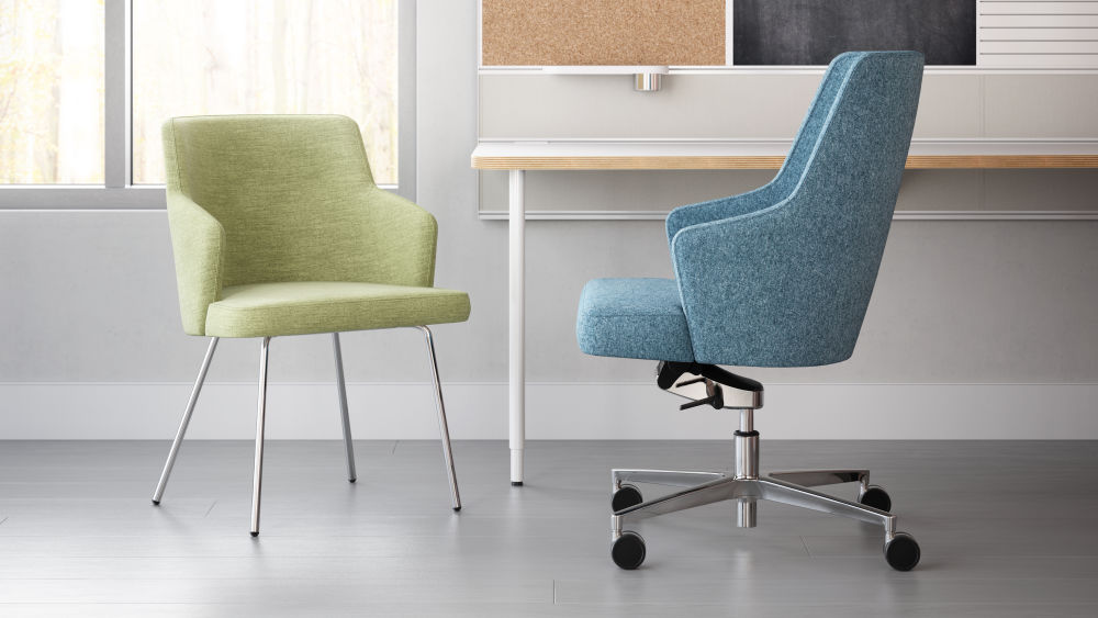 Nate & Natty™ Conference Chair with Arms and Swivel Base and Side Chair with Arms