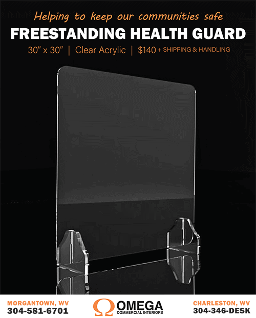 Omega Freestanding Health Guard Clear Acrylic