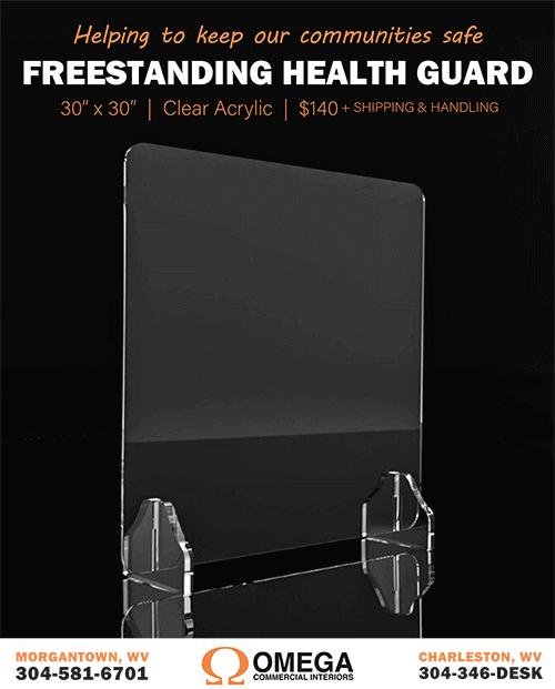 Omega Freestanding Health Guard Clear Acrylic