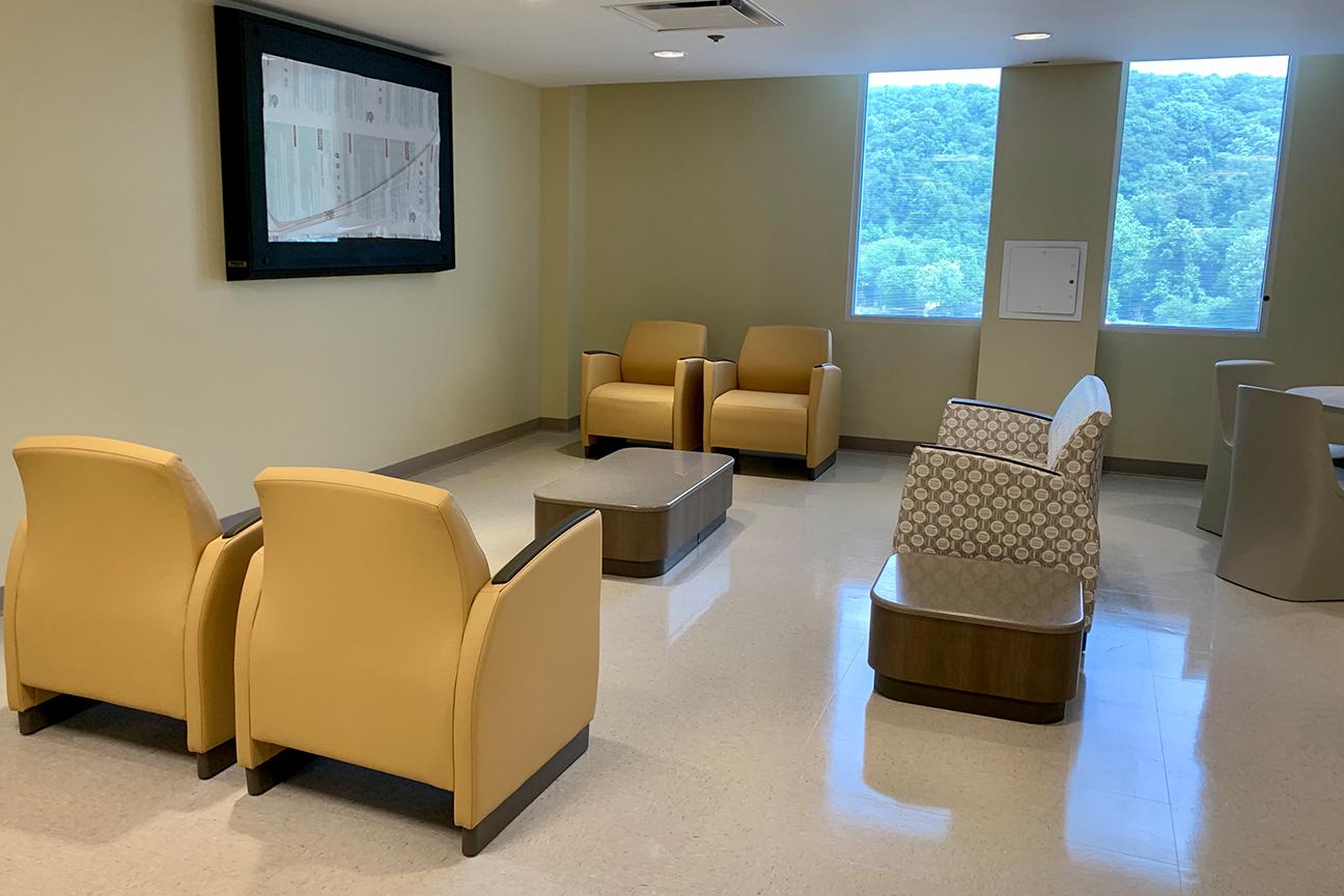 Krug Lounge Furniture at Reynolds Memorial Hospital in the Behavioral Health Area